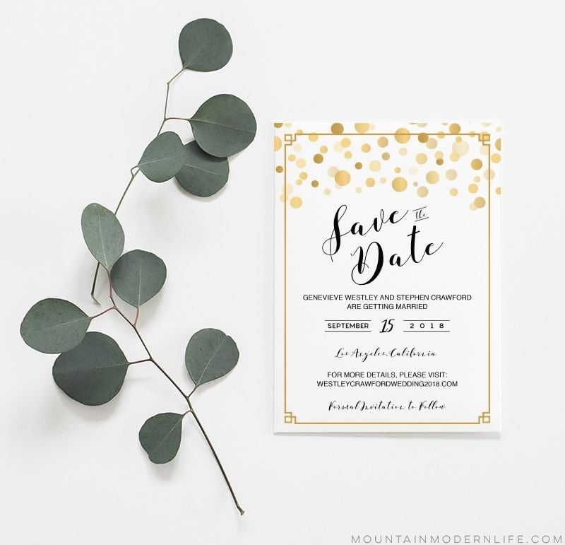 9 Free Save The Date Templates for Calendar Save The Date Plain