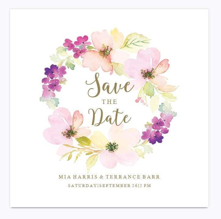 9 Free Save The Date Templates within Calendar Save The Date Plain