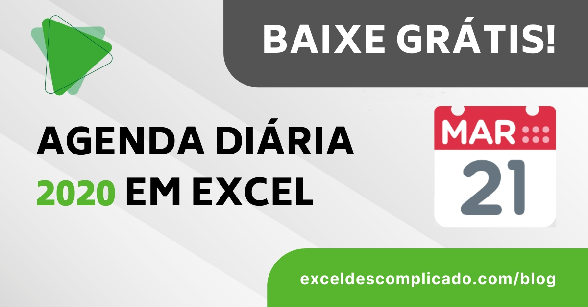 Agenda 2020 (Diária) Em Excel - Download Grátis! with Agenda Calendario Excel Gratis Photo