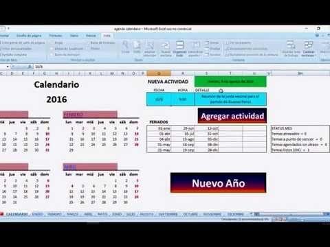 Agenda Calendario En Excel intended for Agenda Calendario Excel