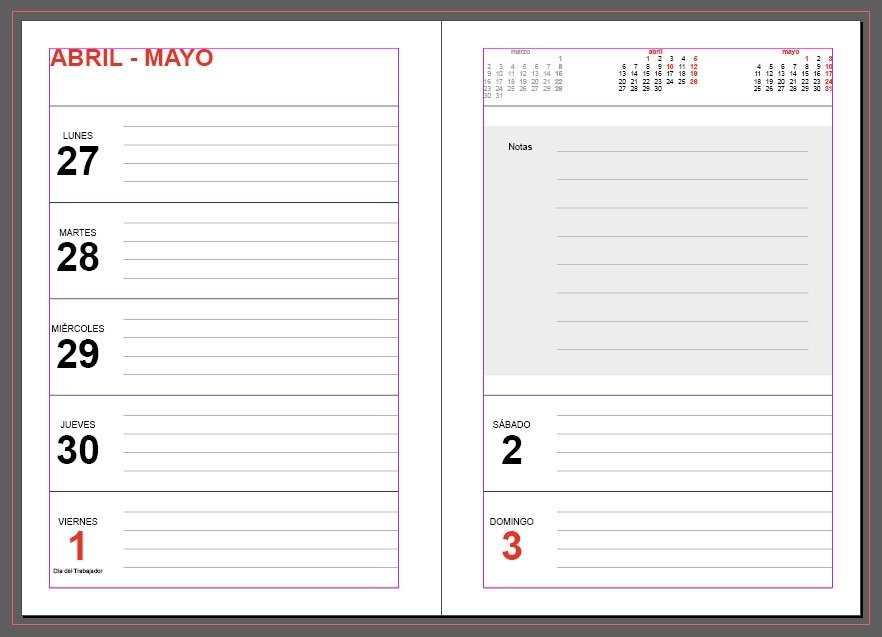 Agendas 2020: Plantillas Indesign Gratis Para Imprimir for Agenda 2020 Plantillas Gratis