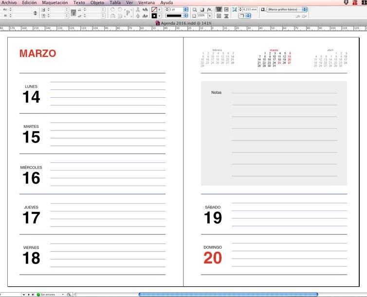 Agendas 2020: Plantillas Indesign Gratis Para Imprimir inside Agenda 2020 Plantillas Gratis