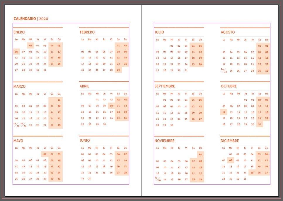 Agendas 2020: Plantillas Indesign Gratis Para Imprimir with Agenda 2020 Plantillas Gratis
