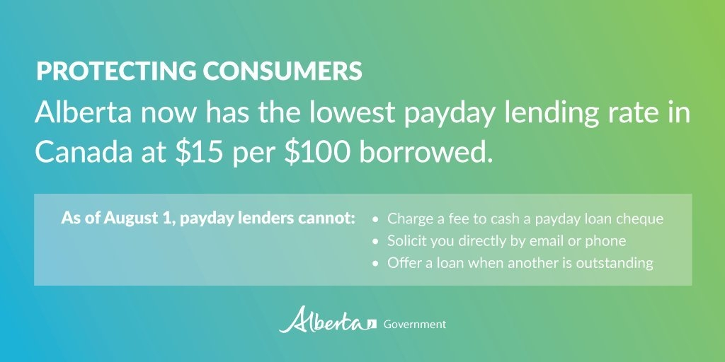 "Alberta Government On Twitter: ""new Rules And Lower Rates inside Government Payday Photo"