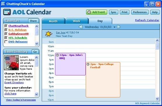 Aol Calendar 6,7,8.0 On Behance with Aol Calendar