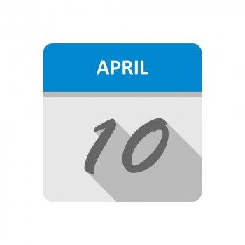 April 10Th Date On A Single Day Calendar - Nohat in Single Day Calendar