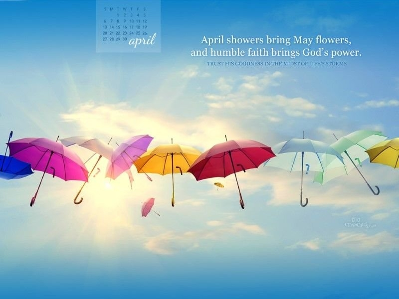 April 2014 - Gods Power Desktop Calendar- Free April within Free Christian Wallpaper Calendar Graphics
