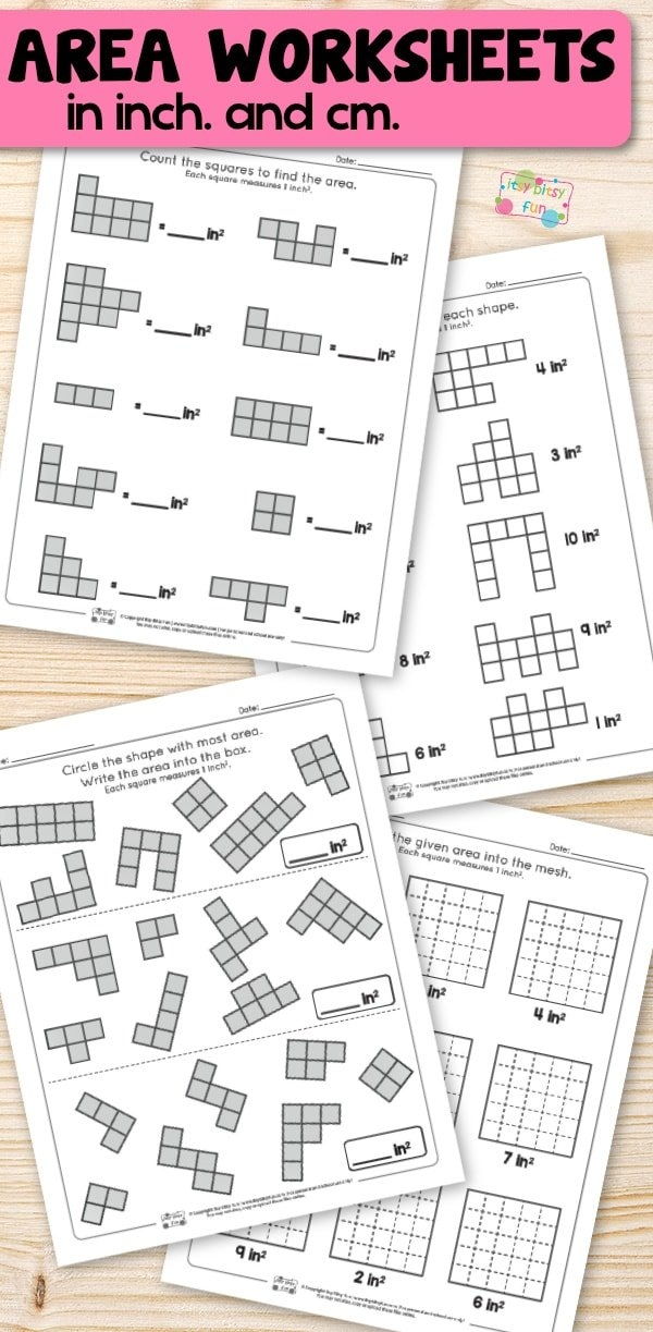 Area Worksheets 2Nd Grade Math Itsy Bitsy Fun For Equations within Itsy Bitsy Fun Calendar
