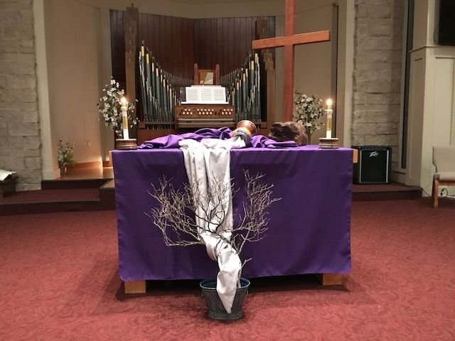 Ash Wednesday At Dumc | Altar Decorations, Ash Wednesday pertaining to Methodist Altar Paraments Color Changes