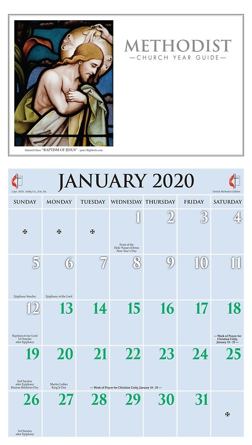 Ashby United Methodist Calendar 2020 within United Methodist Church Parament Calendar
