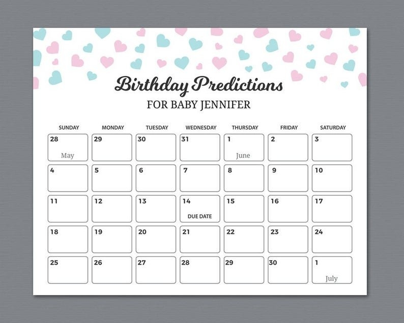 Baby Due Date Predictor - Ovulation Signs inside Free Printable Guess Baby Due Date Calendar Image