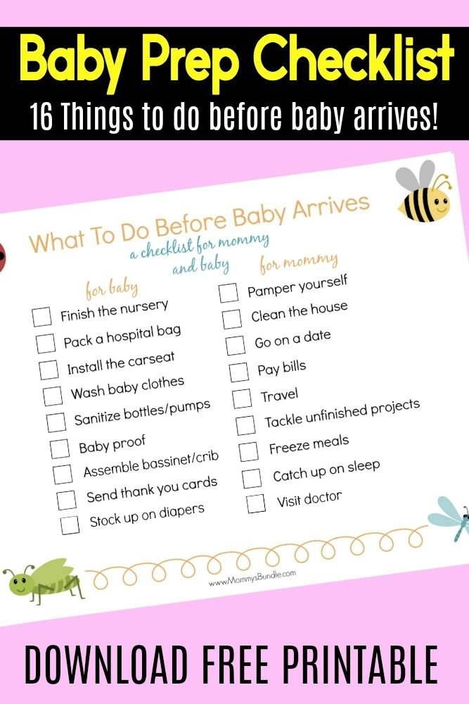Baby Prep Checklist:16 Things To Do Before Baby Arrives pertaining to When Will Baby Arrive Prinatble