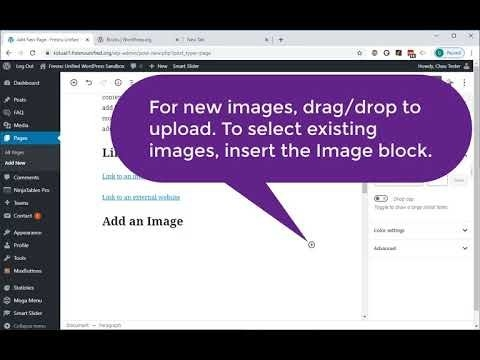 Basic WordPress Page With Common Blocks - Youtube regarding Fresno Unified Academic Calendar Graphics