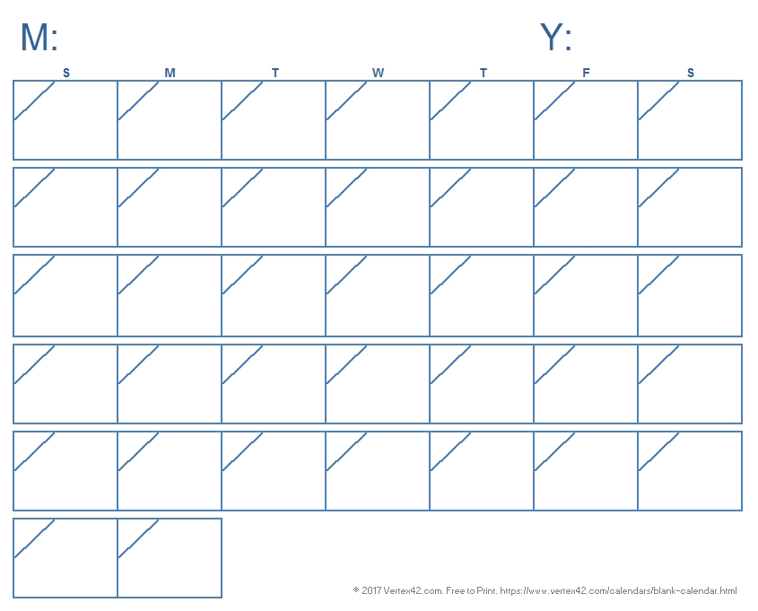Blank Calendar Template - Free Printable Blank Calendars pertaining to Print 90 Day Calendar