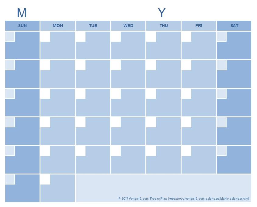 Blank Calendar Template - Free Printable Blank Calendars with 90 Day Countdown Blank Photo