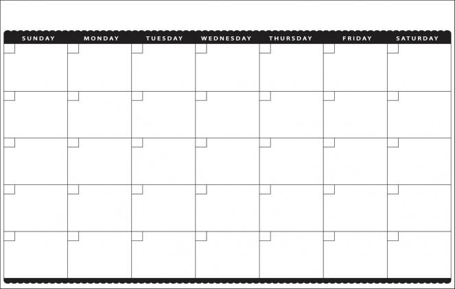 Blank Monthly Calendar Template Printable 11X17 Calendar inside 11X17 Online Calendar Template Photo