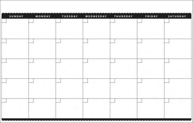 Blank Monthly Calendar Template Printable 11X17 Calendar intended for Free Printable 11 X 17Calendar