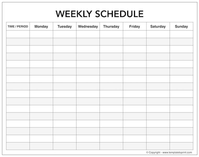 Blank Weekly Calendar With Time Slots | Monday To Sunday with regard to Weekly Calendar Printable Monday To Sunday Graphics