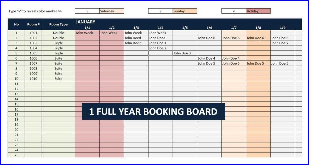 Booking And Reservation Calendar » The Spreadsheet Page throughout Free Reservation Calendar Template