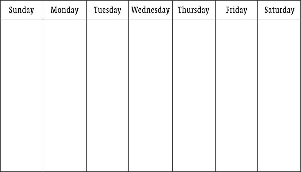 Bridget Of Arabia: The Islamic Weekend | Free Weekly within Weekly Sunday-Saturday Schedule Photo