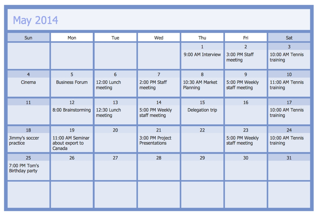 Business Calendar | Business Calendar Example | Calendars intended for Samples Of Calensars Image