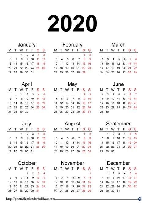 Calendar 2020 Pdf Template - Calendario 2019 within Calendário Juliano 2020 Excel