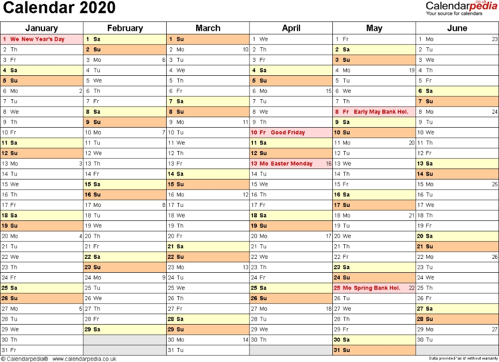 Calendar 2020 (Uk) - 16 Free Printable Pdf Templates | Free throughout Free Calendar Templates Printable 11In By 17 In