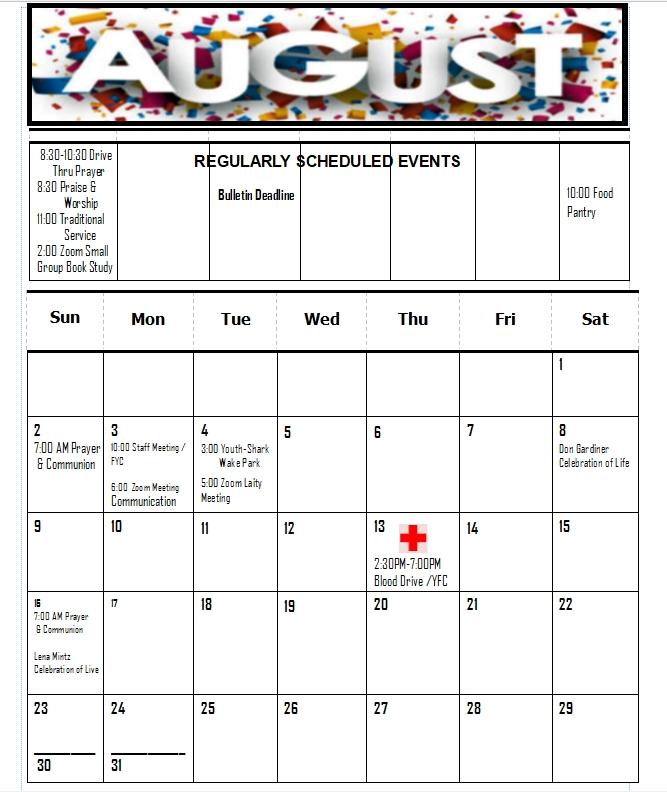 Calendar for October 6 Liturgical Calendar United Methodist