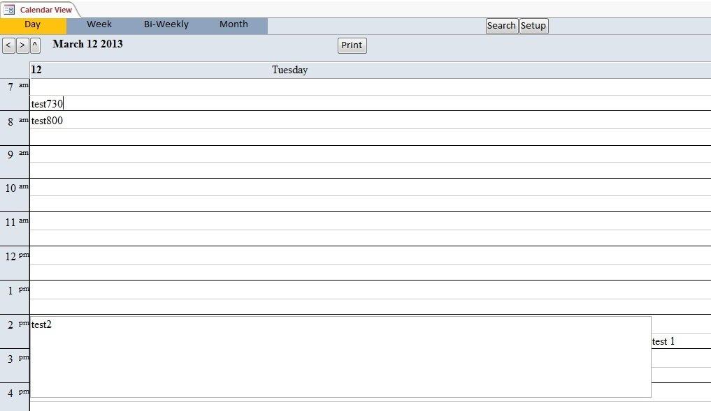 Calendar Scheduling Database Template | Calendar Software for Database Access Calendar Scheduling Photo