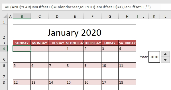 Calendar Template In Excel - Easy Excel Tutorial intended for Printable Calendar That Shows Each Day Numbered Out Of 365
