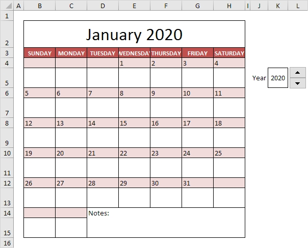 Calendar Template In Excel - Easy Excel Tutorial within Color Coded Excel Calendar Photo