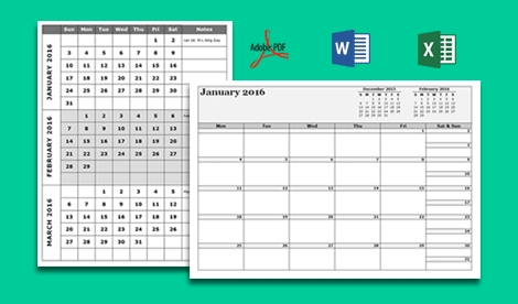 Calendar Templates - Customize & Download Calendar Template in Calenders You Can Write In Image