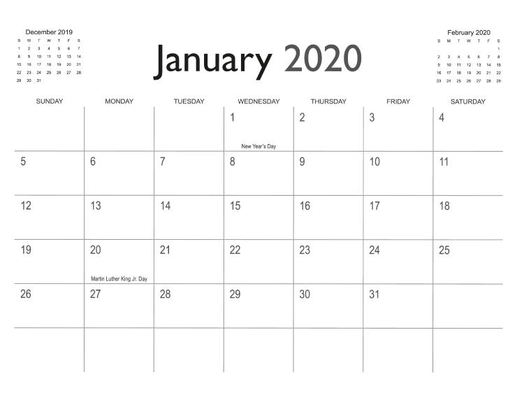 Calendar Templates | Printingcenterusa inside 8 X 11 Printable Calendar Photo