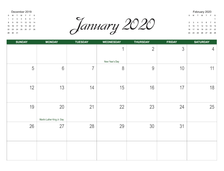 Calendar Templates | Printingcenterusa throughout 11X17 Online Calendar Template