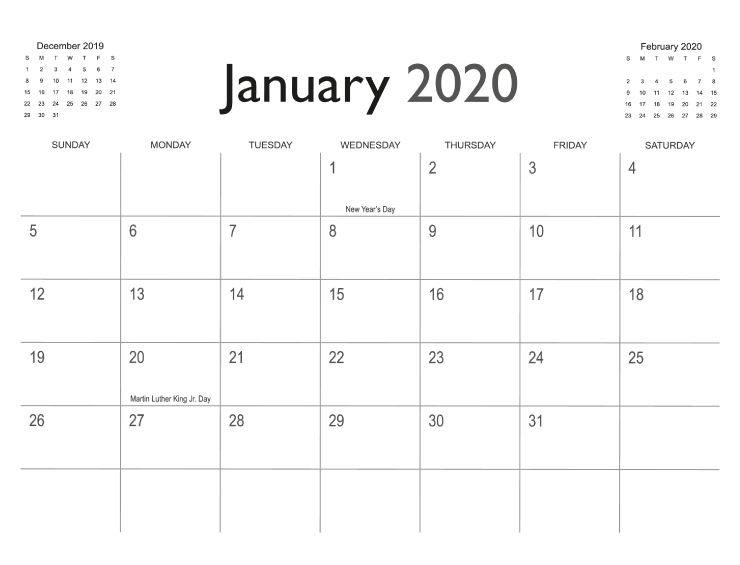 Calendar Templates   Printingcenterusa with regard to 11X17 2020 Calendar Pdf Image