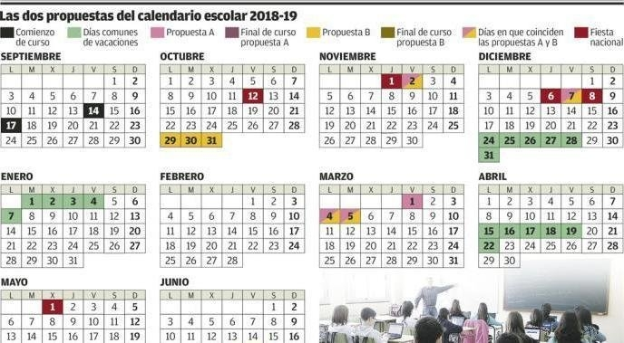 Calendario Escolar Asturias: Así Queda El Calendario Escolar with regard to Calendario De Vacaciones Firma