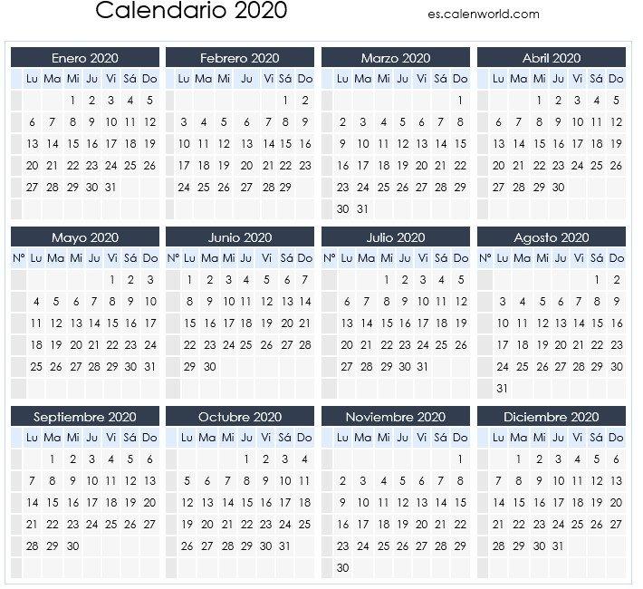 Calendario Laboral 2020 | Días Festivos Por Comunidades regarding Dia Juliano 2020