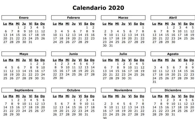 Calendario Laboral 2020 En Valencia: Los 14 Festivos Y with Calendario De Vacaciones Firma Graphics