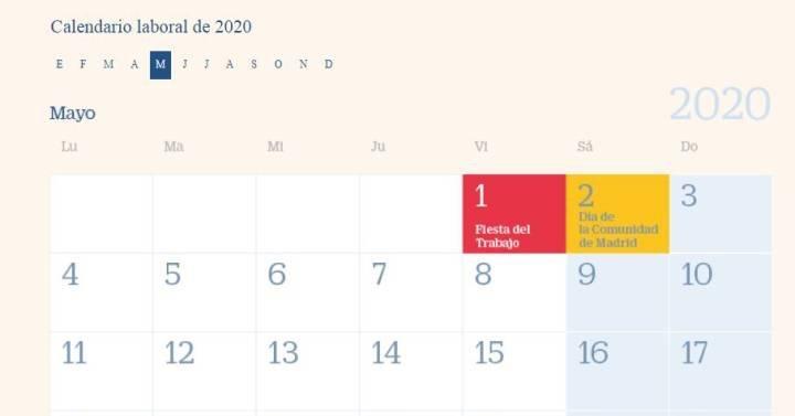 Calendario Laboral 2020: Estos Serán Los Ocho Festivos intended for Calendario De Vacaciones Firma Graphics