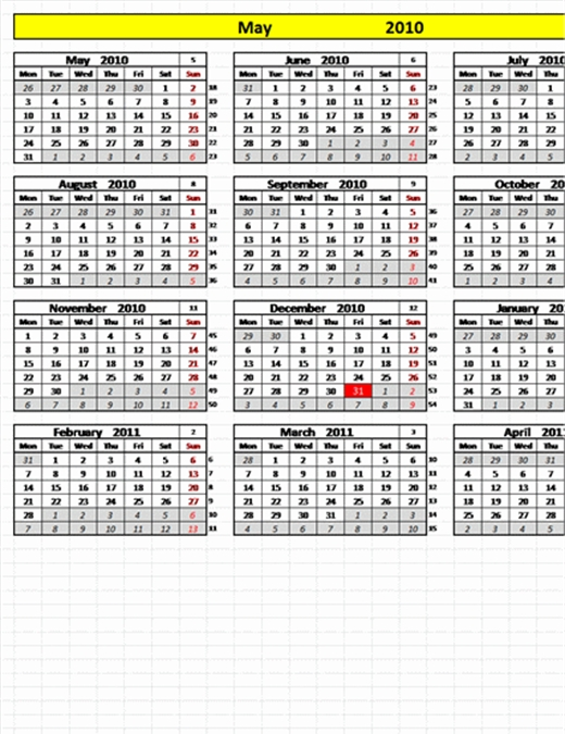 Calendario Perpetuo Con Fechas Programables with Calendario Con Numero Juliano Image