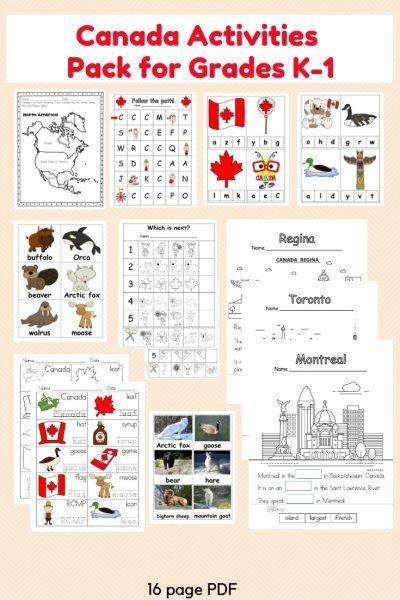 Canada Activities Pack For K-1 | Castle View Academy regarding Wise Owl Factory Editable Calendar Graphics