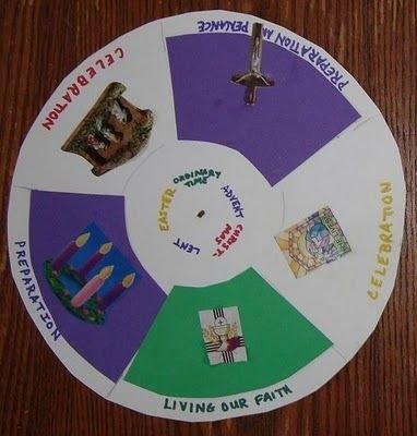 Catholic Liturgical Season Craft | Catholic Crafts inside Liturgical Calendar Craft Printable