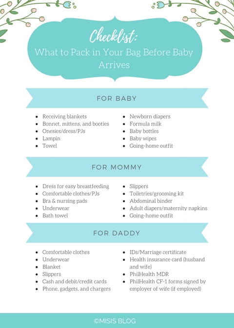 Checklist: What To Pack In Your Hospital Bag Before Baby throughout When Will Baby Arrive Prinatble