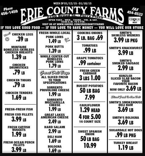 Christina Callari (Cjeta3) On Pinterest inside Erie County Farms Weekly Specials Graphics