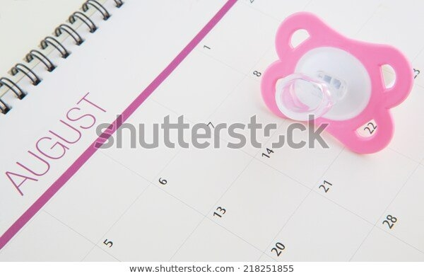 Concept Image Baby Girl Pregnancy Delivery Stock Image with regard to Free Baby Due Date Calender Downloads Photo