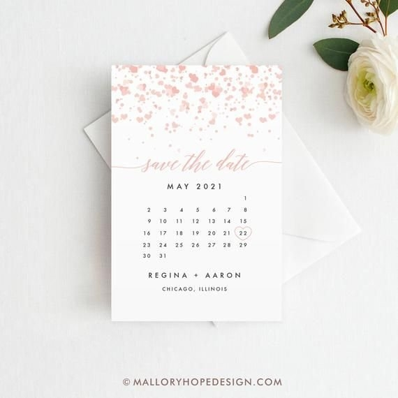 Confetti Calendar Save The Date Template, Diy Templett, Save within Save The Date Printable Calendar Templates