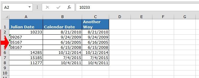 Convert Julian Date To A Calendar Date In Microsoft Excel intended for Reverse Julian Calendar Converter Photo