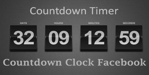 Countdown Clock Facebook - How To Create A Facebook inside Printable Military Short Timers Calendar