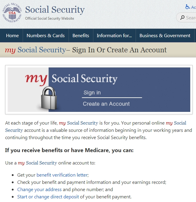 Crooks Hijack Retirement Funds Via Ssa Portal — Krebs On with regard to Next Social Security Deposit