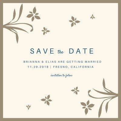 Custom Printable Save The Date Invitation Templates | Canva with Calendar Save The Date Plain Image